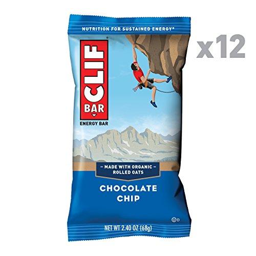 Clif Bar Energieriegel Chocolate Chip, 12er Pack (12 x 68 g) -