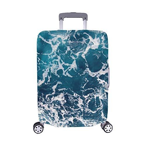 (Nur abdecken) Ocean Spandex Staubschutz Trolley Protector case Reise-Kofferraumschutzkoffer 28.5 X 20.5 Zoll Ripple Boot