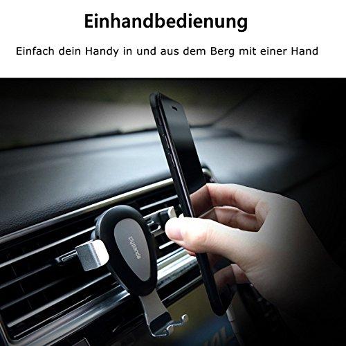 Schwerkraft Handyhalterung Auto, Flypanda 360 Drehbar Autohalterung Universal Einhand Lüftung Multi-Winkel Anti-Shake KFZ Halter für iPhone X, 8, 7Plus, 6S, 6, Huawei Mate10