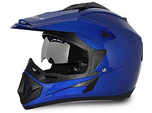 Vega Off Road OR-D/V-MB_M Full Face Helmet (Metallic Blue, M)
