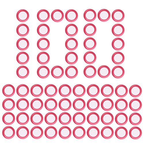 Disc Pfeiles, Foxom 100Stück Disc Nachfüllpack Pfeiles für Nerf Vortex Praxis Nitron Vigilon Proton Revonix Pyragon Lumitron Diatron Blasters, Spielzeugblasterzubehör (Rot)