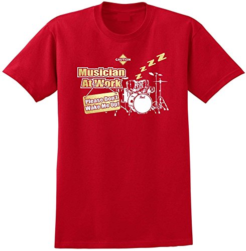 Drum Kit Dont Wake Me - Red Rot T Shirt Größe 87cm 36in Small MusicaliTee