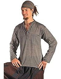 Fischerhemd Hemd Pullover Shirt Freizeithemd Freizeitshirt Hippie Goa Psy Mittelalter Sweater Kurta