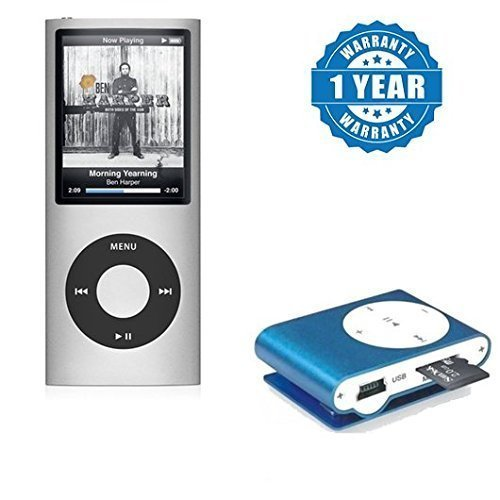 Captcha® Comfortable Feel Ultra Long Music Play Time MP4 Player With Ipod Mp3 Audio Music Player With Memory Card Slot