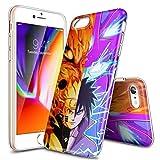 Schutzhülle für iPhone XR, ultradünn, transparent, TPU, stoßfest und Kratzfest, personalisierbare Muster [LZX20190423], iPhone 7/iPhone 8 (Not for Plus), Naruto VS Sasuke