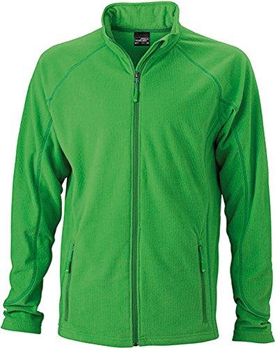 JN597 Men's Structure Fleece Jacket Leichte Outdoor-Fleecejacke green- darkgreen