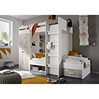 Preisvergleich für Avanti Trendstore - Hochbett - weiß/Sandeiche Dekor