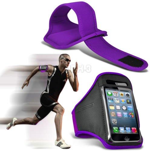 Fonecase HTC One M8 Sport Armbänder mit dem Fahrrad Radfahren Fitnessstudio Joggen abzugewöhnen Armband Case Cover Lila (Htc One M8 Armband Geldbörse)