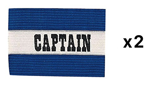Champion Sports Youth Soccer Captains ARM Band Redblue Blue CYP-BLU  2-Pack