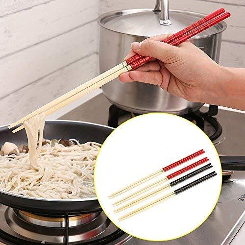 dealglad® 5Paar Küche Bambus Hot Topf Nudeln kochen rutschfeste Stäbchen Geschirr Geschirr 33cm