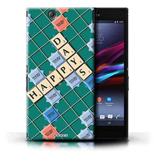 Kobalt® Imprimé Etui / Coque pour Sony Xperia Z Ultra / Douce Vengeance conception / Série Mots de Scrabble Jours Heureux