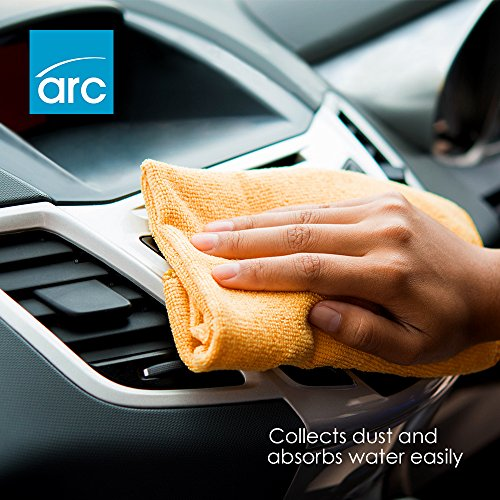 Aboventi  Cleaning Cloths: Pack Of 10 Lint Free Microfibre Towels For Polishing Durable And Super Soft Polyester Cloths For Every Surface For Professional And Home Use Washing Waxing And Dusting