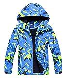 TOP&SKY KIDS Kinder Winter Jacke Gefütterte Outwear Warm Outdoor Funktionsjacke mit Kapuze Fahrrad Wandern Laufen Ski Kindermantel