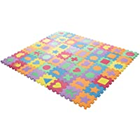 Hey! Play! Foam Floor Shapes Puzzle Learning Mat Puzzle