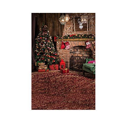 Weihnachten Backdrops FORH 90×150 cm Fotografie Hintergrund Winter Innen Foto Hintergrund Fotografie Hintergrund Requisiten für Studio Wireless Hot Shoe