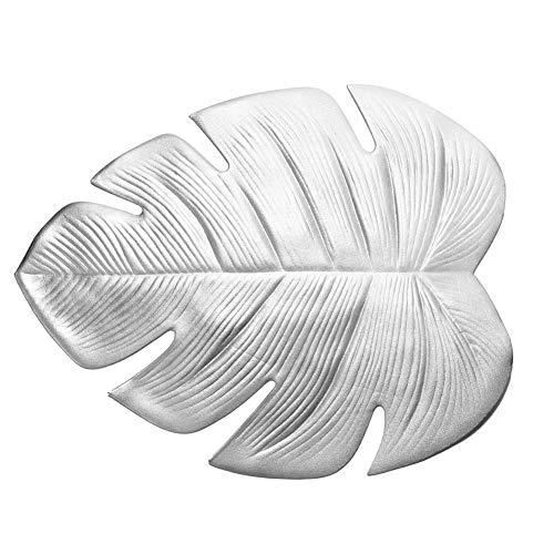 Calistouk Untersetzer Platzset Eva Monstera Leaf Form Wärmedämmung Pads Tischdekoration Zubehör Silver-Plate Mat Silverplate Cup
