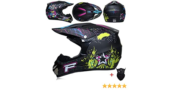 Off Road caschi da moto adolescenti adulti antiurto luce integrale moto motocross casco downhill corsa mountain bike tappi di sicurezza in tutte le stagioni