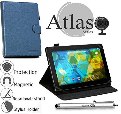tablet huawei m2 Navitech Custodia in pelle blu con stilo per HUAWEI MediaPad M2 10.0 Tablet