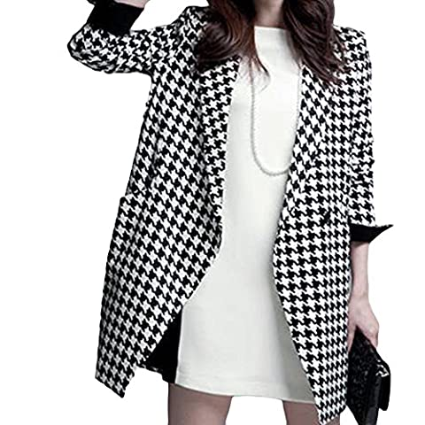 LOCOMO Cardigans - Manteau - Femme Noir Noir et blanc