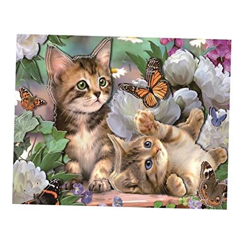 Baoblaze DIY 5D Diamant Malerei Stickerei Kreuz Handwerk Ölgemälde Tier Wandbilder - Katze