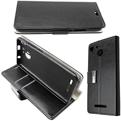 caseroxx Hülle/Tasche Bookstyle-Case Archos 50B Cobalt / 50B Cobalt Lite Handy-Tasche, Wallet-Case Klapptasche in schwarz