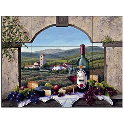 Fliesenwandbild - A Toskana Vista- von Barbara Felisky - Küche Aufkantung/Bad Dusche
