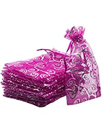 DMS Retail Return Gift Bags Organza Bags Return Gift Favours Shagun Favours Shagun Pouch Bags Wedding Party Favor Jewellery Packing Pouch Dry Fruit Pouch 13x15 cms Mix Colors (Pack of 20 Bags)