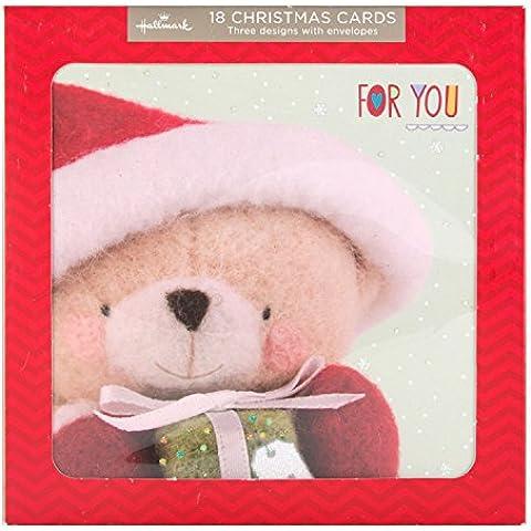 Hallmark–Tarjeta de felicitación, tarjeta de Navidad Tarjetas de Forever Friends '–18unidades,