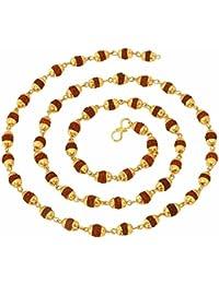 Glory Jewels Golden 18kt Rudraksha mala for men/women