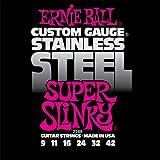 Ernie Ball 2248 Jeu de cordes 9-42 Super Slinky Stainless Steel
