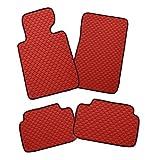 Fussmatten-Deluxe Hochwertige Gummimatten Auto Fussmatten passgenau Rot
