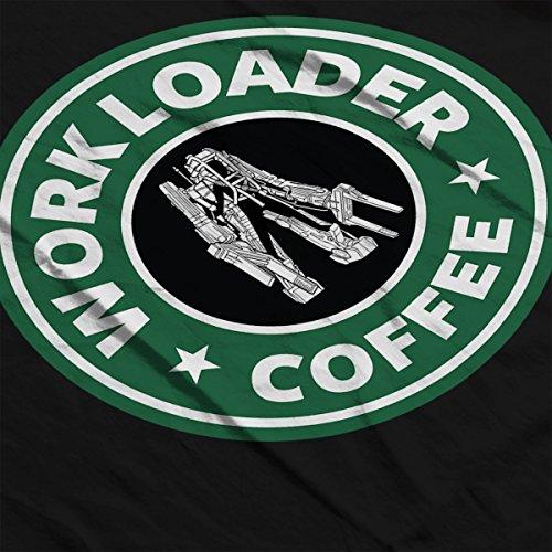 Alien Work Loader Coffee Starbucks Men's T-Shirt Black