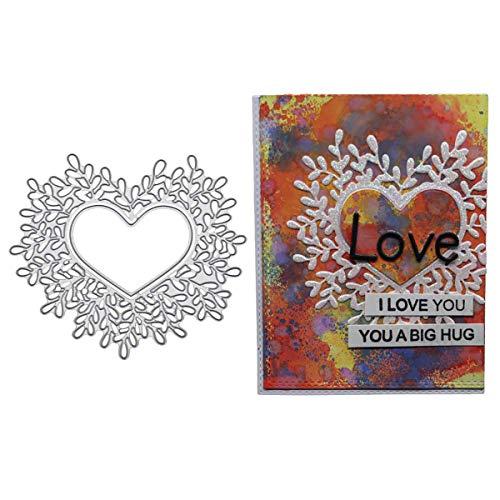 Stanzschablone Herz Love Weihnachten Hochzeit Oster Geburstag Karte Album Deko