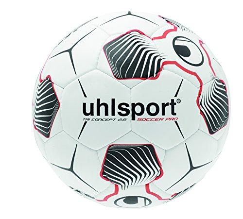 uhlsport Fußball Tri Concept 2.0 Soccer Pro - Balón de fútbol, color Blanco, talla 4