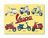 HALEY GAINES Vespa Motorcycle Targa in Metallo Decorazione Parete Cartello Vintage Appendere Poster retrò Muro Placca per Bar Cucine Bagni Garage Hotel Giardino 20×30cm