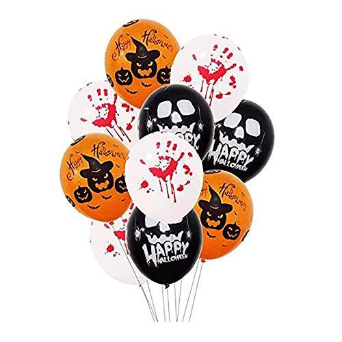 JLCP 12 Zoll Halloween Printing Ballon Festival Party Bietet Innen-Und Außendekoration Requisiten 50 Stück (Trick Halloween-party Behandeln Oder)
