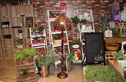 QPSGB Stehleuchte Nepal Retro Stehleuchte Exotische Coffee Shop Lampe Indonesien Wind Stehleuchte Studie Stehleuchte -4268 Stehlampe (Design : B)