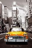 Poster 61x91,5 - New York Gelbes Taxi Cab Bild Neu',