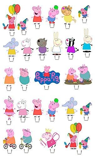 Peppa Pig Carte Lot de 1 Jeu gâteau pour fête Stands jusqu'Décorations Diy x26 Pièces