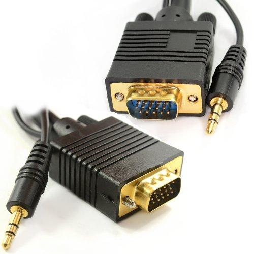 PC Ordinateurs Portable Vers HD LCD LED Plasma TV 15 Broches VGA Avec Jack Audio câble 10 m