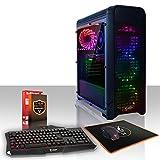 Fierce Alpha RGB Gaming PC Pacchetto - Veloce 4 x 3.7GHz Quad-Core AMD Ryzen 3 2200G, 1TB Disco Rigido, 8GB di 2666MHz DDR4 RAM / Memoria, AMD Radeon Vega 8 Grafica Integrata, ASUS AM4 PRIME A320M-K Scheda Madre, RGB Cassa, HDMI, USB3, Wi - Fi, Perfetto per il gioco competitivo, Finestre non Incluso, Tastiera (UK/QWERTY), Mouse, 3 Anni Di Garanzia 930750