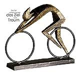 Große dekorative Skulptur Racer broncefarben Figur