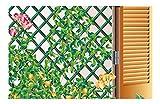 intermas Trellis Celosía de plástico Verde 25x2x100 cm