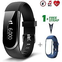 Fitness Tracker [Verbesserte Version] mit Herzfrequenzmesser, CHEREEKI IP67 Wasserdicht Aktivitätstracker Sport Uhr Schrittzähler, Smart Armband kompatibel mit Android und iOS Smartphones