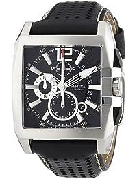 Festina F16363/5 - Reloj de cuarzo para hombre con correa de piel, color negro