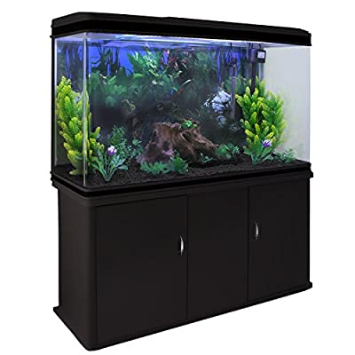 Aquarium MonsterShop et accessoires de démarrage, Plantes, Meuble noir, 4ft, 300 L, Noir