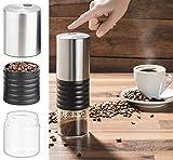 Rosenstein & Söhne Kaffemühle: Elektrische Akku-Kaffeemühle mit Keramik-Mahlwerk, USB Ladebuchse (Espresso-Mühle)