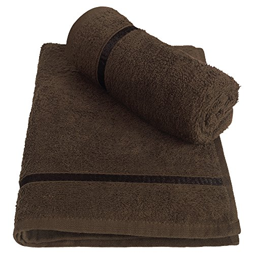Story@Home Solid 2 Piece 450 GSM Cotton Hand Towel Set - Brown