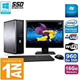 Dell Optiplex 780 DT Display 19 Zoll Intel E5300 RAM 16 GB 960 GB SSD WiFi W7