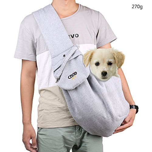 aokur Haustier Hund Katze Kitty Carry Carrier Outdoor Reise Einstellbare Single Schultertasche Sling Für yorkie, Chihuahua Labrador etc (Grey 270g)) Test